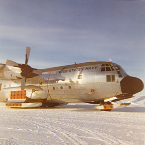 C-130 at McMurdo Bay November 1960